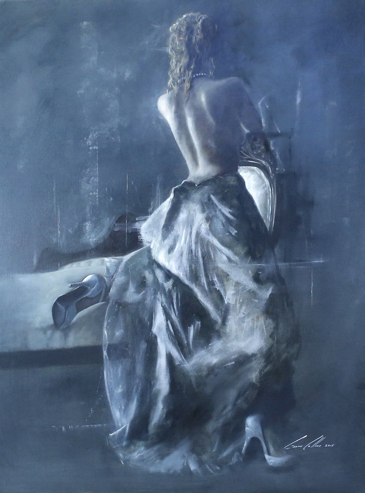 """""""Life Story"""" Wife and Muse. Oil on canvas, By Gavin Collins"""