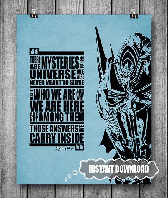 Optimus Prime Quote Transformers Movie Instant By Inkofme 500