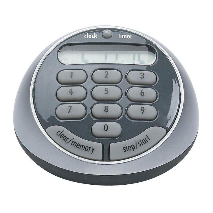 OXO Good Grips Digital Timer 100 Hr, Silver