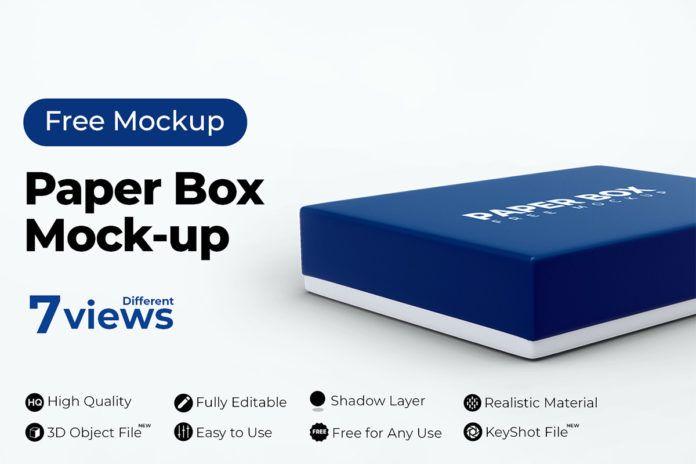 Download Paper Box Free Mockup Free Mockup Free Packaging Mockup Paper Box