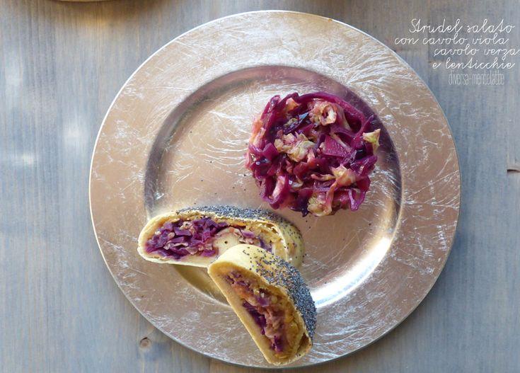 #strudel salato con cavolo viola e cavolo verza