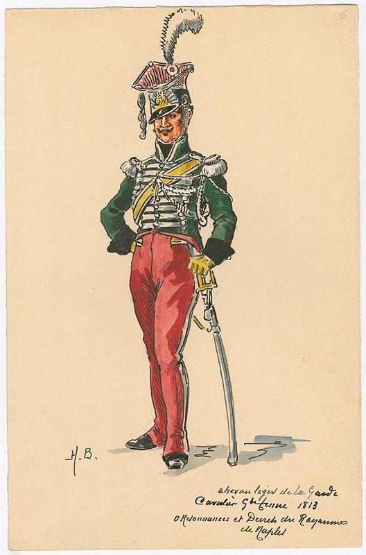 Naples; Royal Guard, ChevauLegers, Trooper, Grande Tenue, 1813