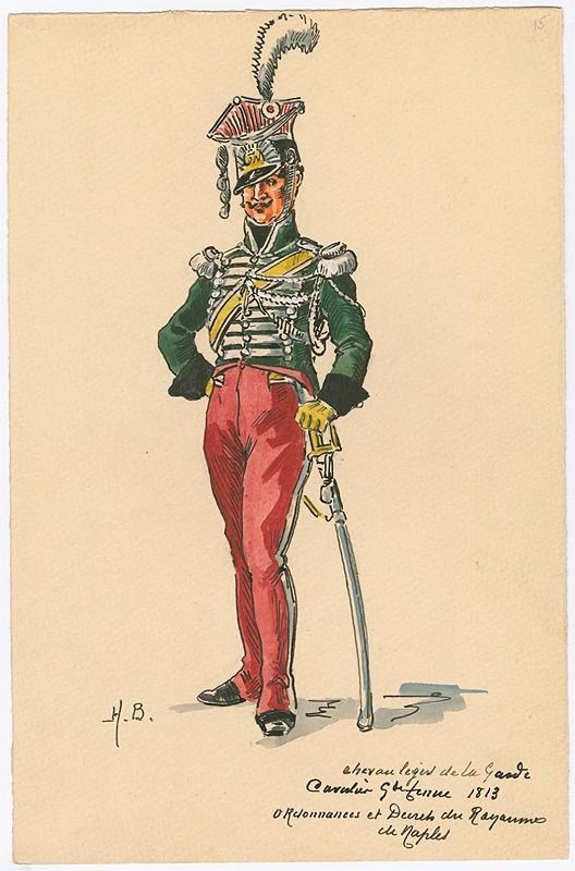 Naples; Royal Guard, ChevauLegers, Trooper, Grande Tenue, 1813