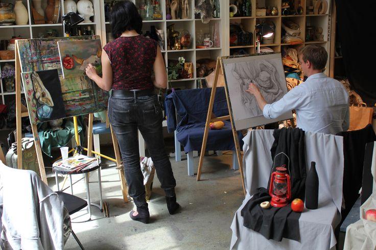 Arbeit im Atelier