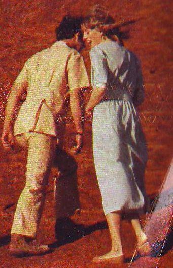 March 21, 1983: Prince Charles & Princess Diana at Ayers Rock in Yulara, the Northern Territory in Australia.