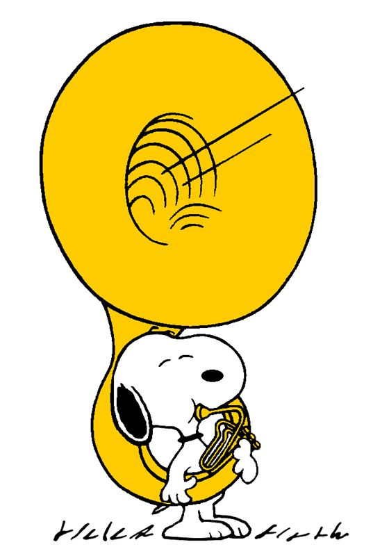 Snoopy with his Giant Sousaphone