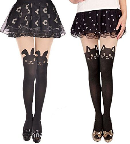 Japanese Sexy BUNNY & CAT Mock with TAIL TIGHTS Pantyhose 2 Pairs Ship From US AM Landen http://www.amazon.com/dp/B00JY9VDS6/ref=cm_sw_r_pi_dp_vpl4tb04851Z2P4E