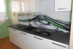 Sklenená kuchynská zástena, Glass splashback #glassSplashback #zastena #kuchyna www.interiersklo.eu
