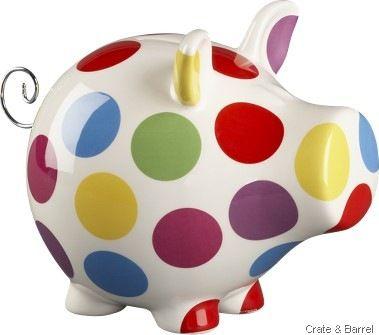 **PIGGY BANK WITH COLORFUL POLKA DOTS!!....SUPER CUTE!!**  Google Image Result for http://lh3.ggpht.com/_8s1TB229vsg/TA6QZCeIFlI/AAAAAAAAMlM/GEPqcnjRNJA/piggy%2520bank%2520crate%2520barrel%255B3%255D.jpg