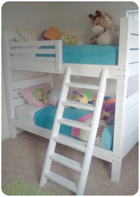 side street bunk beds modified ladder do it yourself home projects from ana white home. Black Bedroom Furniture Sets. Home Design Ideas