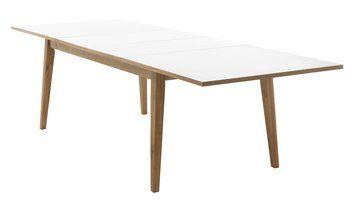 Spisebord PAMPA eik/hvit inkl. 2 plater JYSK