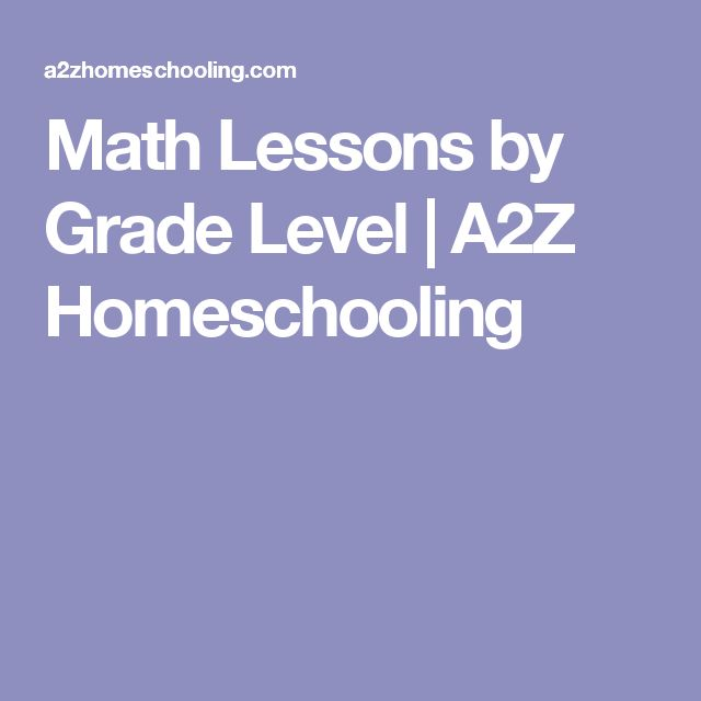 Math Lessons by Grade Level | A2Z Homeschooling