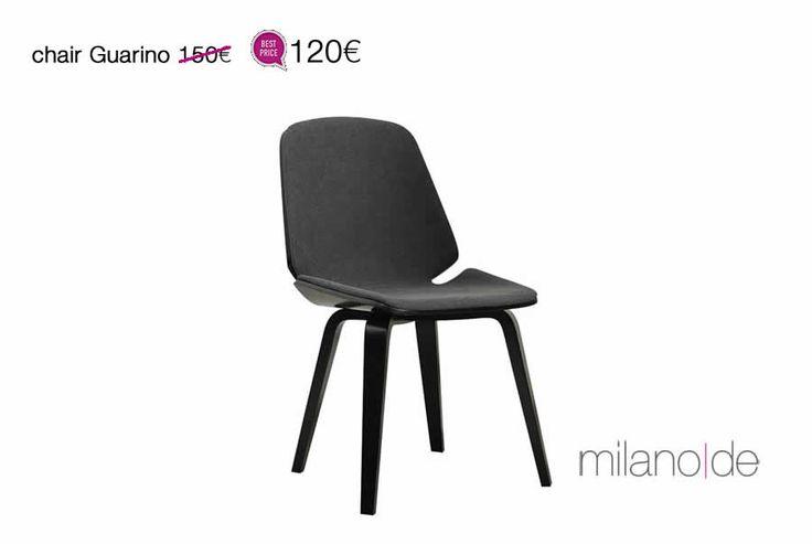 """Μοντέρνα και συνάμα διαχρονική, η καρέκλα Guarino θα σας εκπλήξει με το """"έξυπνο"""" κάθισμά της. Κυρτά τελειώματα με Bauhaus επιρροές, σε έναν καταλυτικό συνδυασμό ξύλου καρυδιάς με σκούρο γκρι ύφασμα.  #Guarino #Καρέκλα #Καρέκλες #Έπιπλα #Προσφορές #Milanode"""