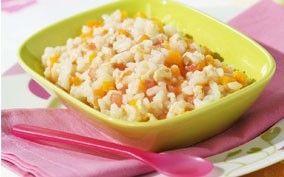 Recette risotto dinde légumes - 18 mois