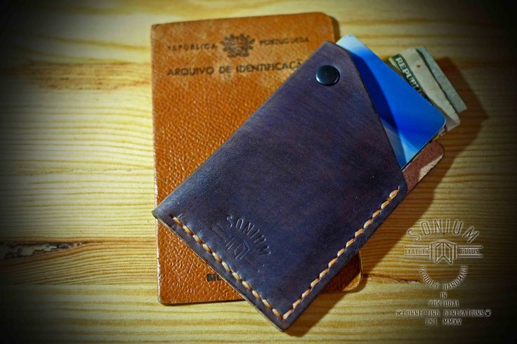 """SONIUM LEATHER"" Special dyed Mini Wallet with Vintage style"