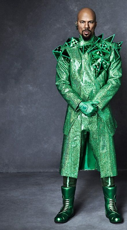The Wiz featuring Common, looking cool in emerald.