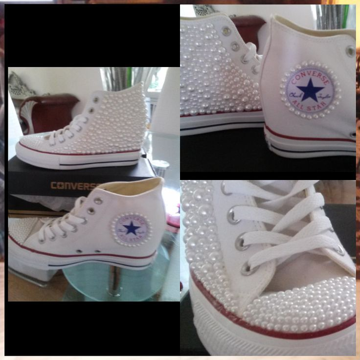 Custom Wedge All Star Converse by WEWTrends on Etsy
