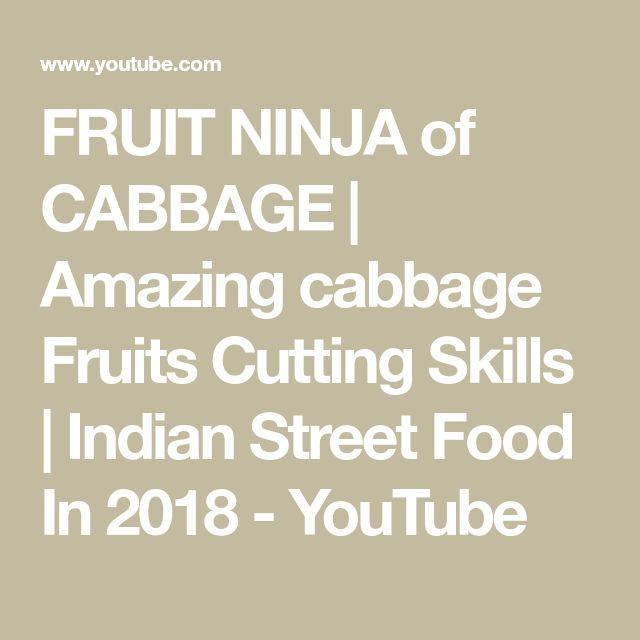 FRUIT NINJA of CABBAGE | Amazing cabbage Fruits Cutting Skills | Indian Street F…