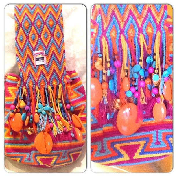 wayuu - the bag is crocheted, the strap ply-split