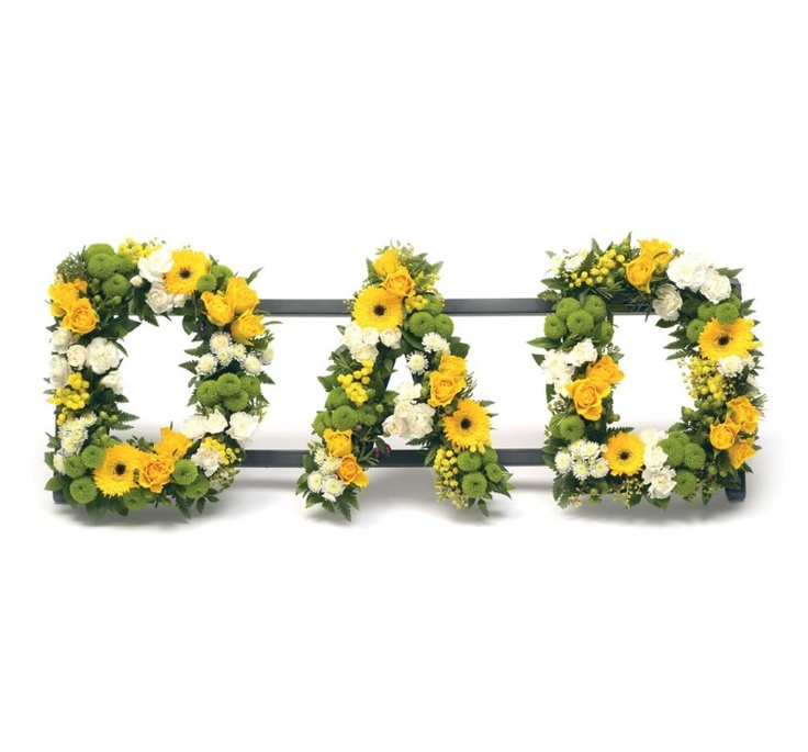 DAD LETTERS IN FLOWERS - SPECIAL DESIGNS AND LETTERS - FUNERAL FLOWERS