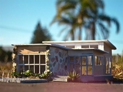 Anna Carey's Tiny House - Gold Coast Artist Anna Carey crafts miniature houses and motels which are inspired by her time growing up near the beach in Queensland
