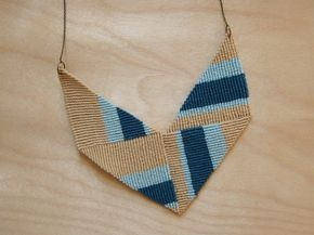 Make This - Knotted Chevron Necklace - Version2 - Luxe DIY - How Did You Make This?