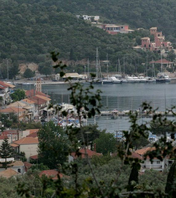 Vathi port in Meganisi Island (Ionian), Greece