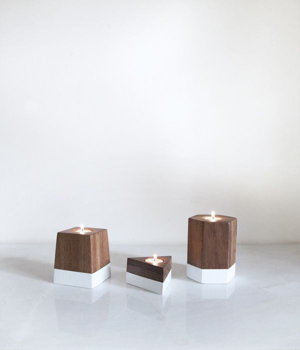 Image of Dipped Geometric Candle Holders