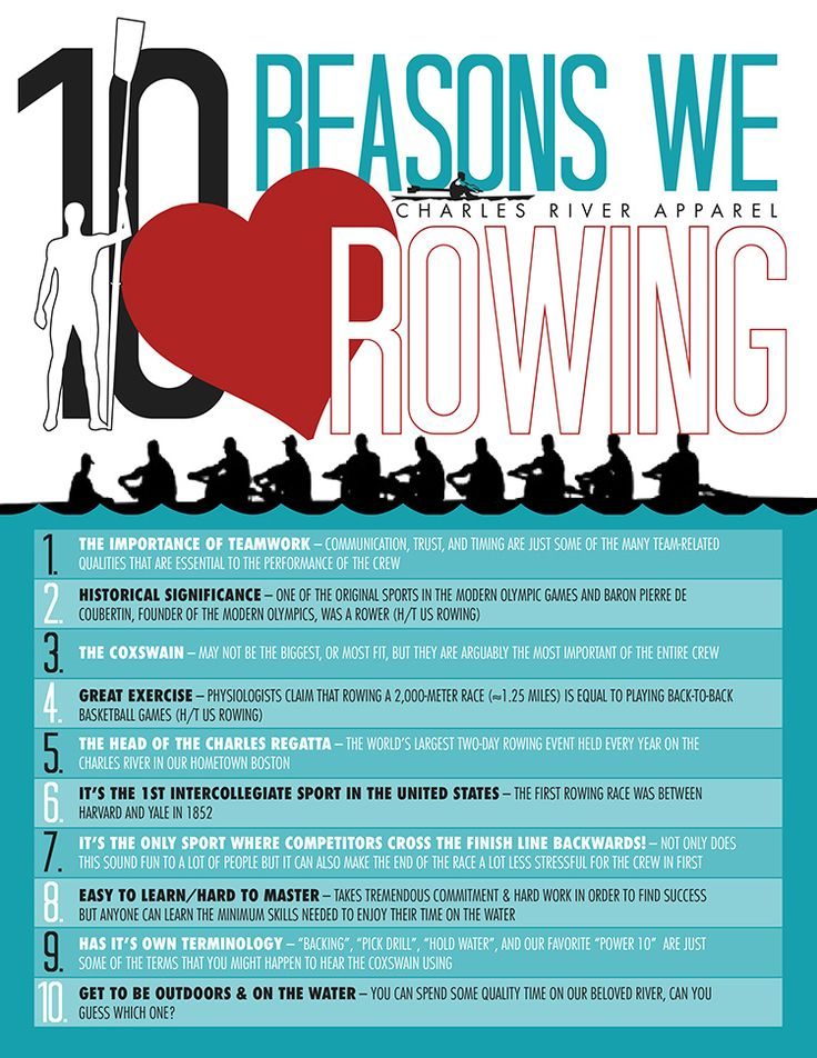 10 Reasons Why We Love ROWING