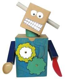robot con le scatole