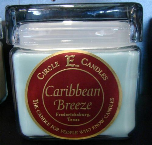 New Circle E Candle Caribbean Breeze 28 oz Jar 165 Hours Burn Time Ocean Blue | eBay