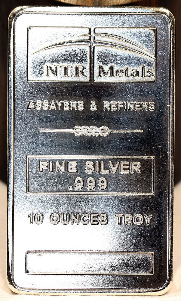 10oz Ntr Metals 999 Solid Pure Silver 10 Troy Ounces Bar Free S H Pure Silver Silver Metal