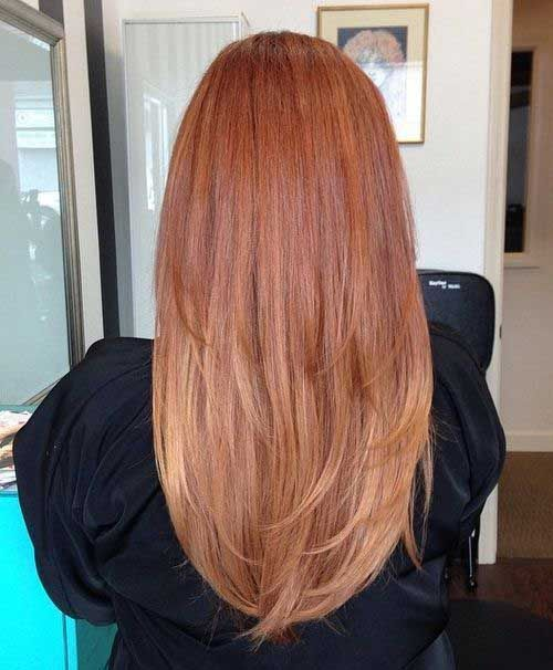 Long Strawberry Blonde Hairstyles Back View                              …