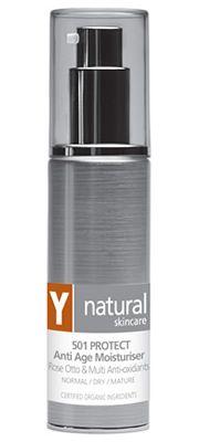 Y Natural Organic Skincare - 501 PROTECT Anti Age Moisturiser - 45ml