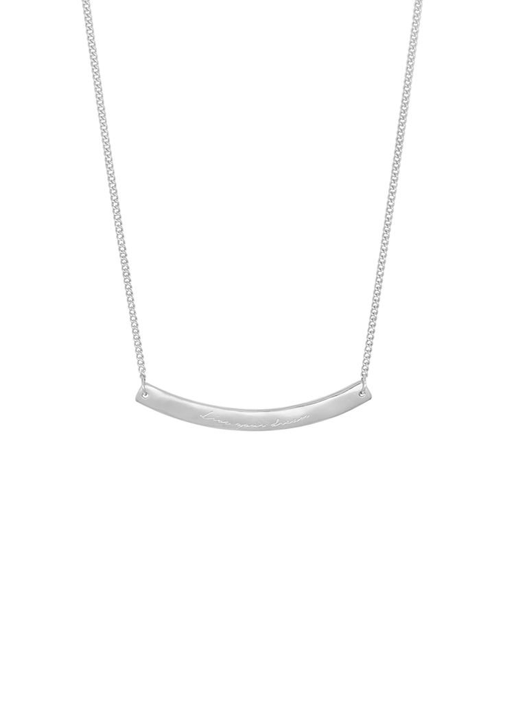Willow Organic 'Live Your Dream' Bar Pendant - Nicole Fendel - this season re-imagines our popular curved bar styles with agate and quartz beads