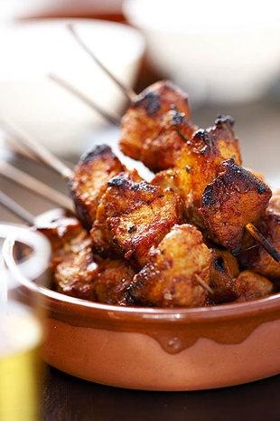 South African pork kebabs