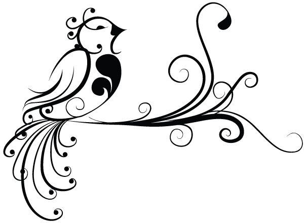 swirly designs | Fun Swirly Bird | Me Casa Creations
