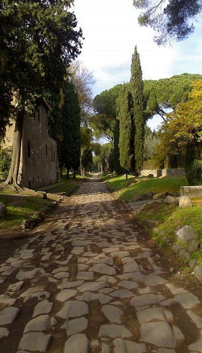 The Appian Way or Via Apia, an ancient Roman road spanning 350 miles allowing trade and access to Greece