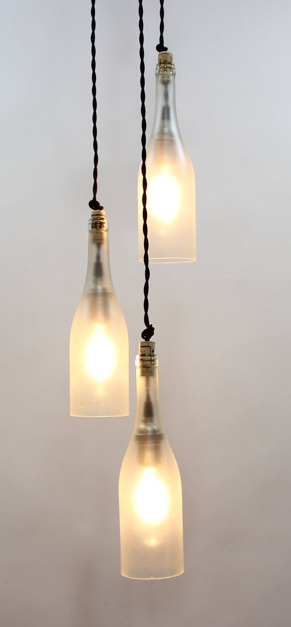 3 light wine bottle pendant fixture by ParisEnvy on Etsy, $175.00                                                                                                                                                     More