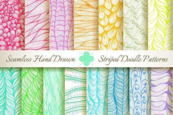 15 Seamless Striped Patterns by Patternalized on @creativemarket