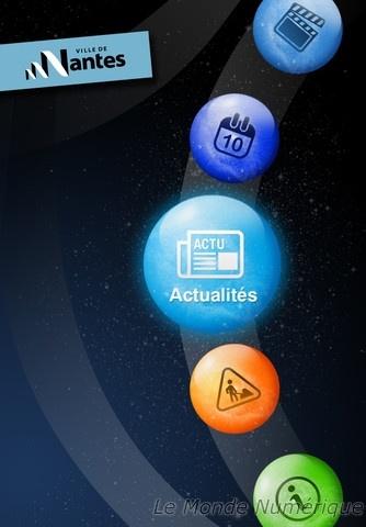 """Applications iPhone et Android """"Ville de Nantes"""" (Réalisation www.imagescreations.fr)"""