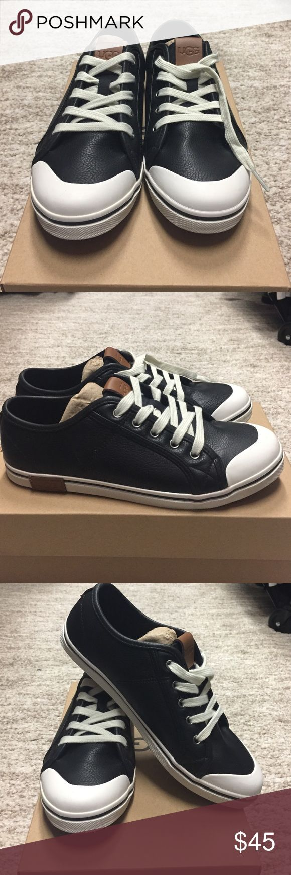New Leather UGG Sneakers Kids black leather sneakers, new in box. This is a set price. UGG Shoes Sneakers