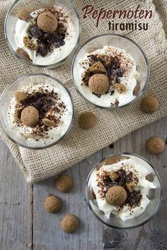 Pepernoten Tiramisu, ipv koffie en tia Maria, chocolademelk gebruiken?