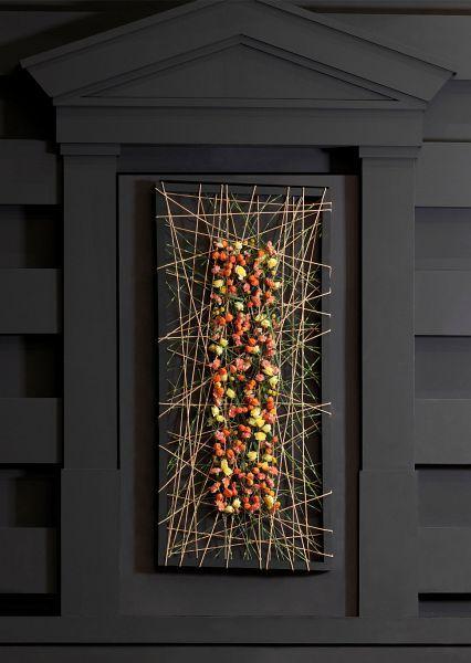 Symmetrische wand decoratie