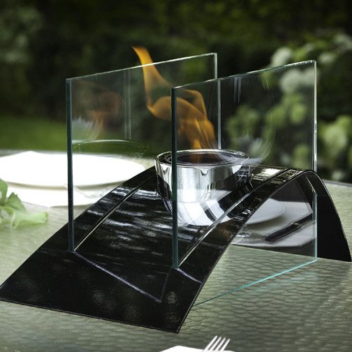 Allusion Steel Bio Ethanol Tabletop Fireplace