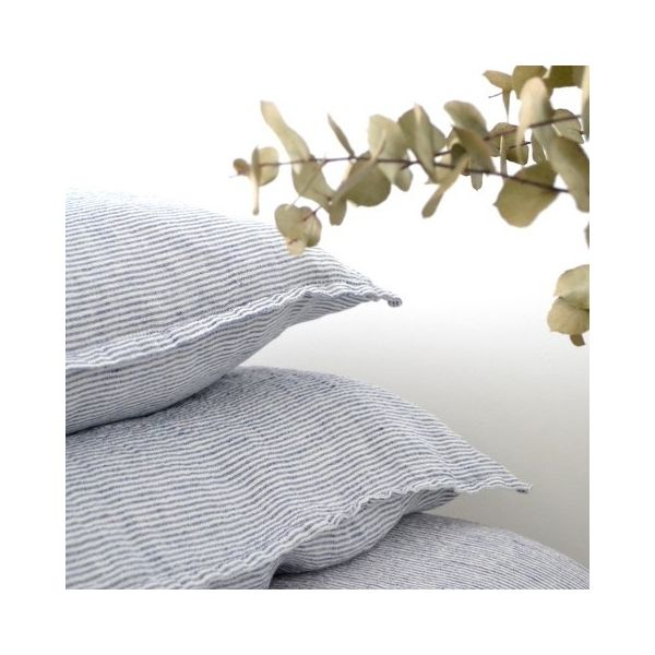 housse de couette b b en lin lav ray marine blanc divers pinterest d and textiles. Black Bedroom Furniture Sets. Home Design Ideas