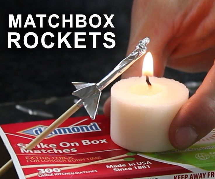 Here's how to make rockets, that shoot over 40 feet, with aluminum foil and a wooden match.These desktop rockets might be tiny, but they're impressive...