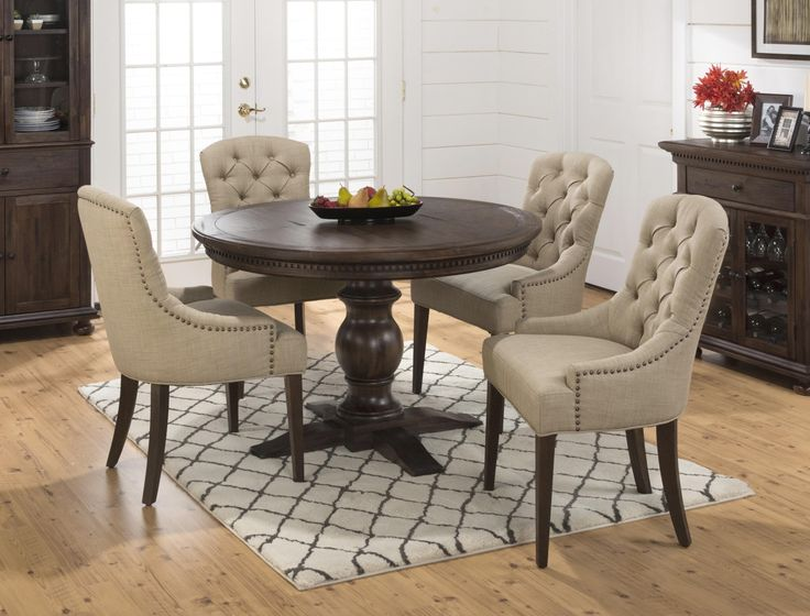 Jofran Geneva Hills Round To Oval Table With Pedestal Base   Jofran   My  Front Runner