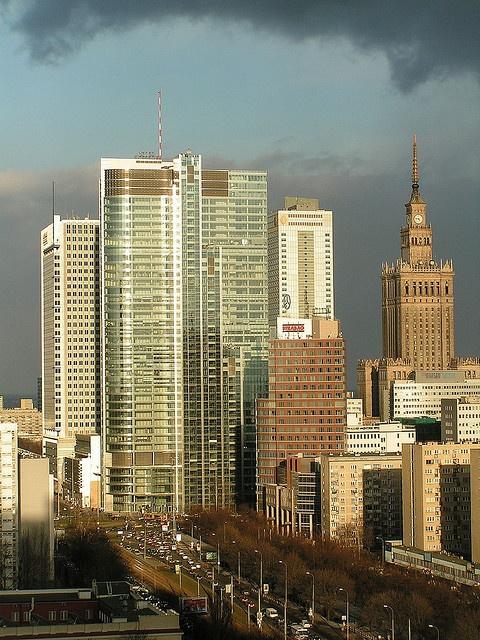 Warszawa z Rondo1 w roli głównej. Warsaw poland