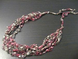Free Patterns Using Ladder Yarn | Pink Ribbon Eyelash Scarf – Free Knitting Pattern for a Pink